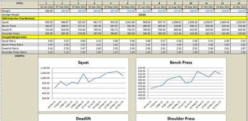 3 weight training spreadsheet templates excel xlts