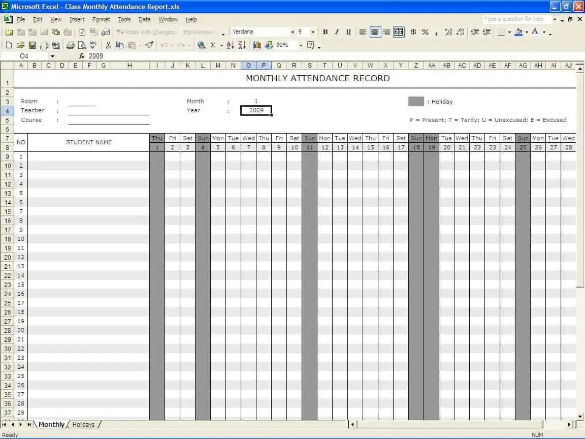 school register template spreadsheet
