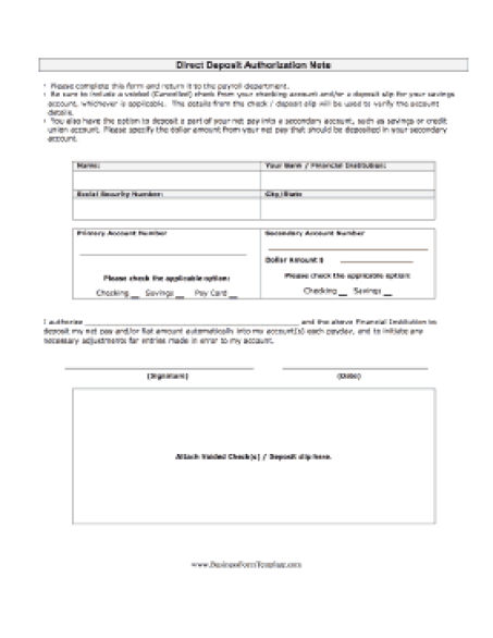 free non federal direct deposit enrollment request form english