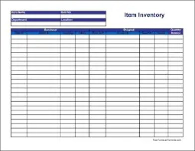 inventory template 11