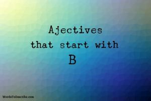 adjectives beginning with b