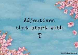adjectives that begin with t