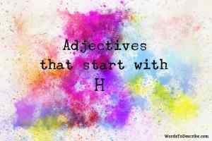 adjectives that begin with h