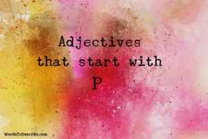 adjectives that begin with p