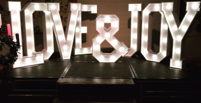 LOVE & JOY light up letters