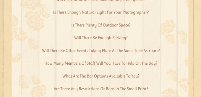 19 Top Tips for Choosing your Wedding Venue