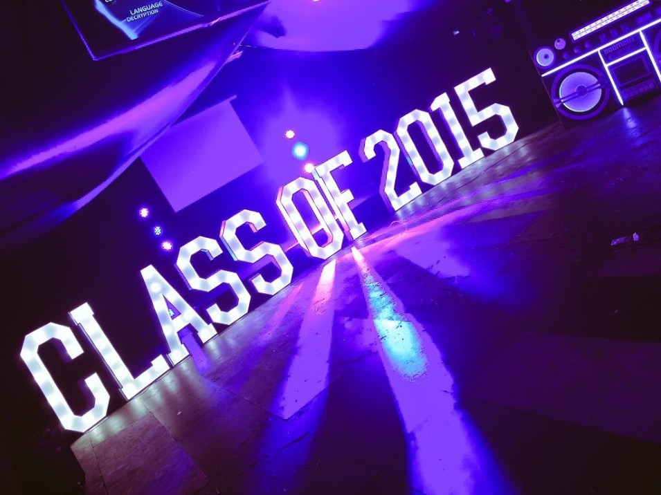 CLASS OF 2015 stage lighting