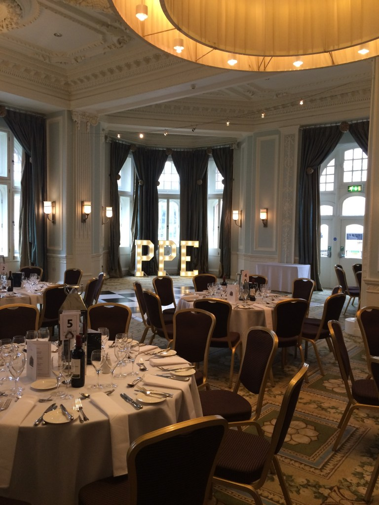 PPE light up initials at The Midland Hotel Manchester