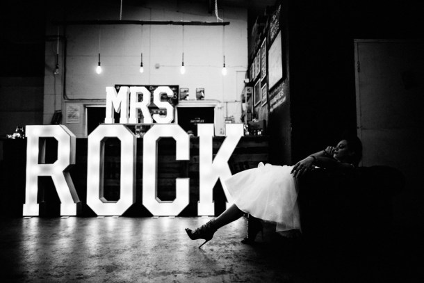 Mrs ROCK illuminated sign and model at Seven Bro7hers Micro Brewery