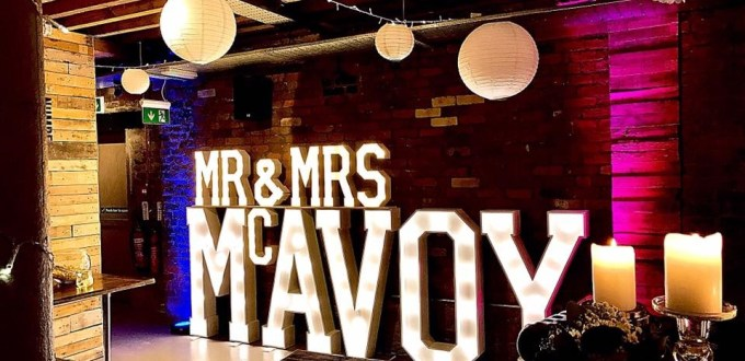 Mr & Mrs MCAVOY wedding letters