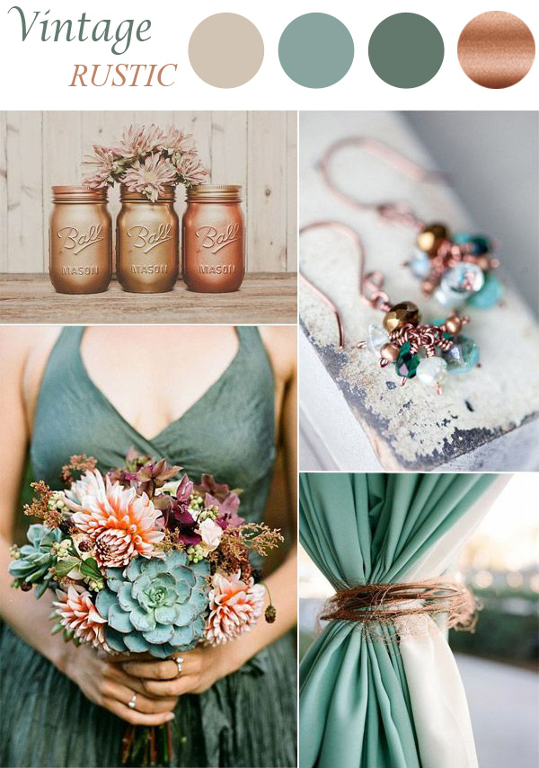 Sage and Copper Vintage Wedding Colour Inspiration