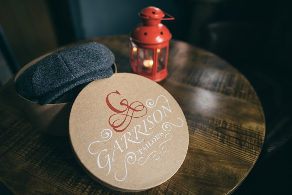 Garrison Tailors Flat Cap and packaging