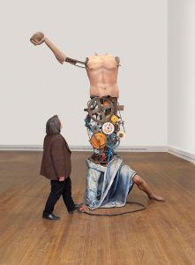 Kinetic sculpture of Saint Jerome, by Michael Landy,2012: