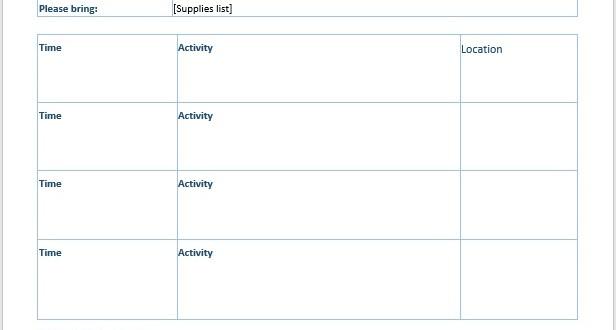 word meeting agenda template