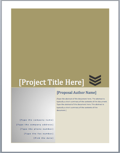 Project Funding Proposal Template – Microsoft Word Templates