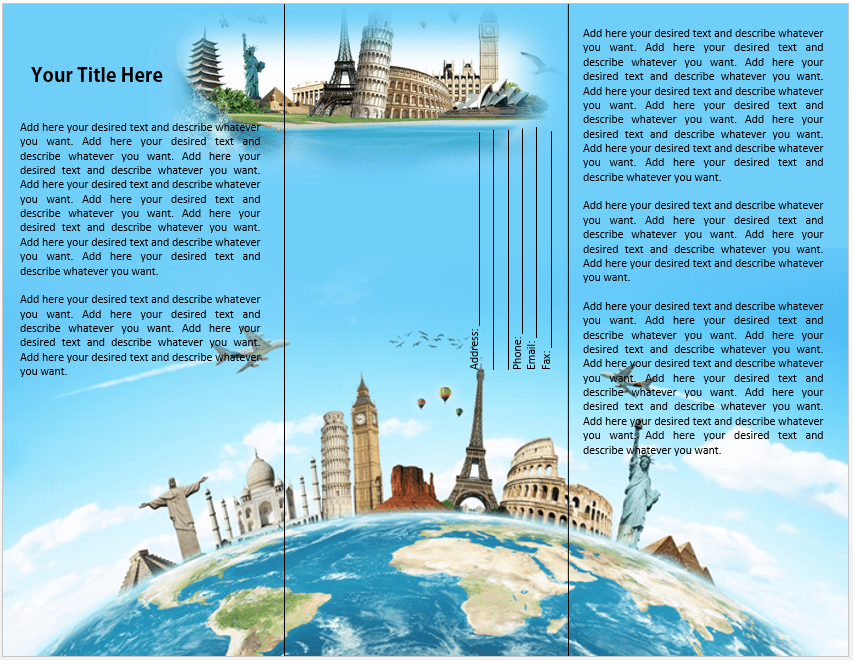 Travel Or Tourist Brochure Template – Microsoft Word Templates