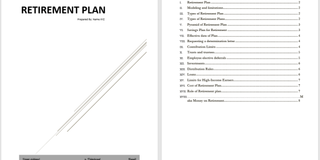 Retirement Plan Template – Microsoft Word Templates