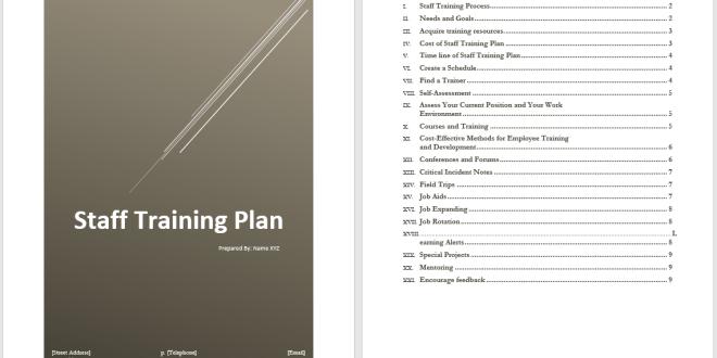 employee training plan template word