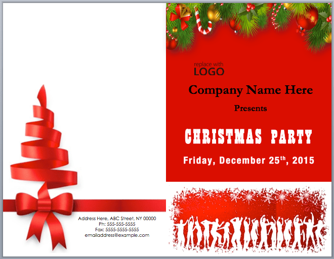 Christmas Party Brochure Template Word Templates