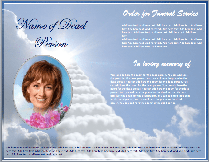 Funeral Brochure Template Word Templates