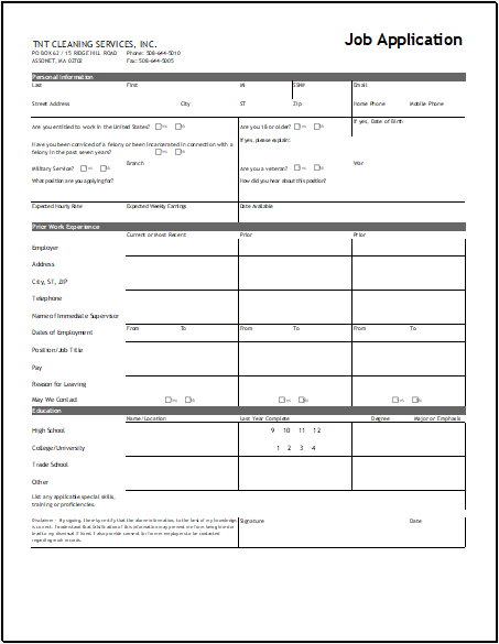 Modesty has little place in your job application. Job Application Form Templates Word Templates