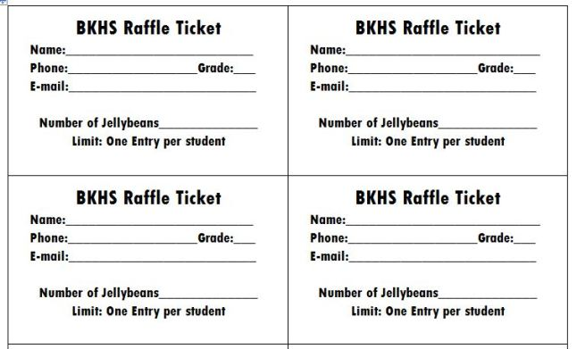 Raffle Ticket Templates Word Templates Docs - Raffle ticket template word