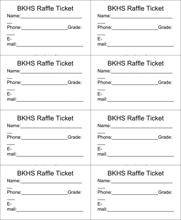 sample of raffle tickets templates - raffle ticket templates word templates docs