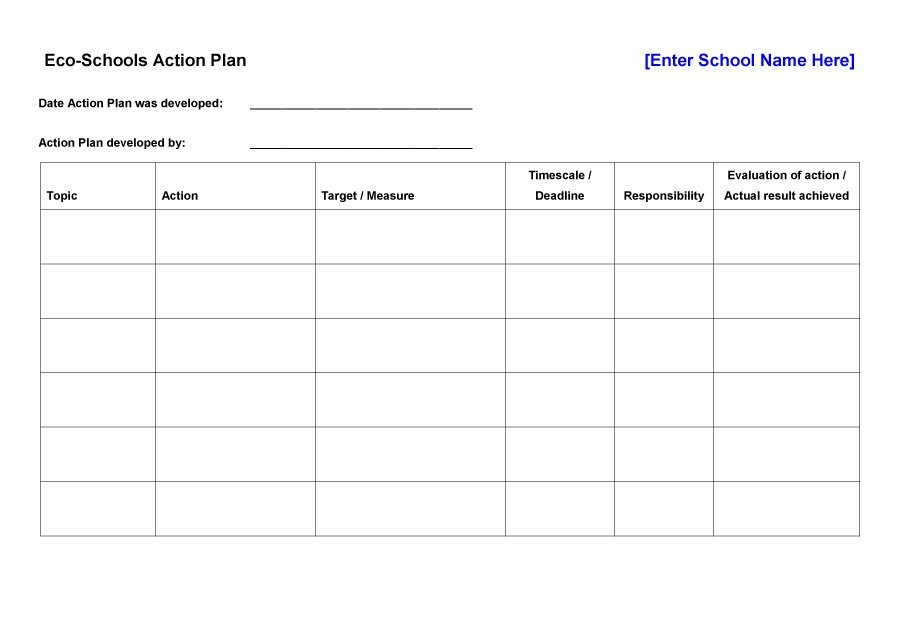 Action Plan Templates  Word Templates Docs
