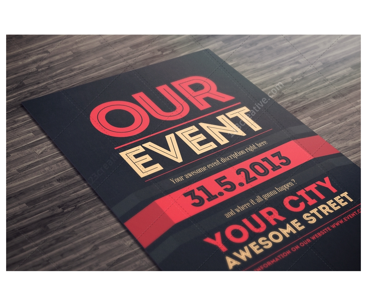 examples of event flyers