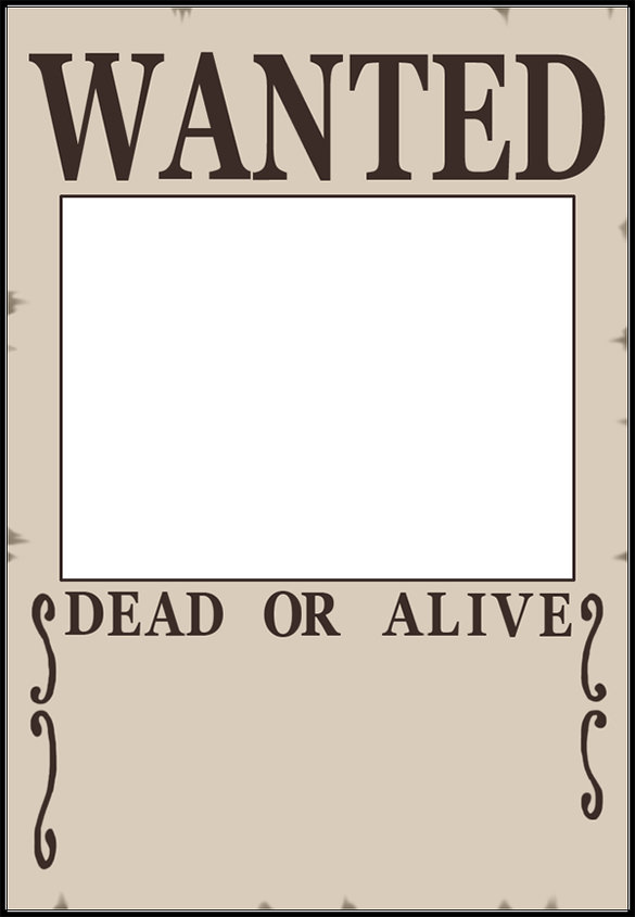 Online Wanted Poster Generators  Example Of A Wanted Poster