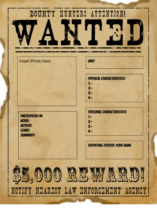 Wanted Poster Templates Word Templates Docs
