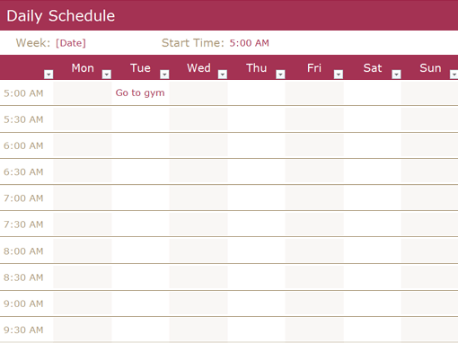 Daily Schedule Templates Word Templates Docs - Daily schedule template word
