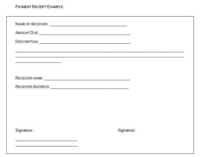 receipt of payment templates word templates docs