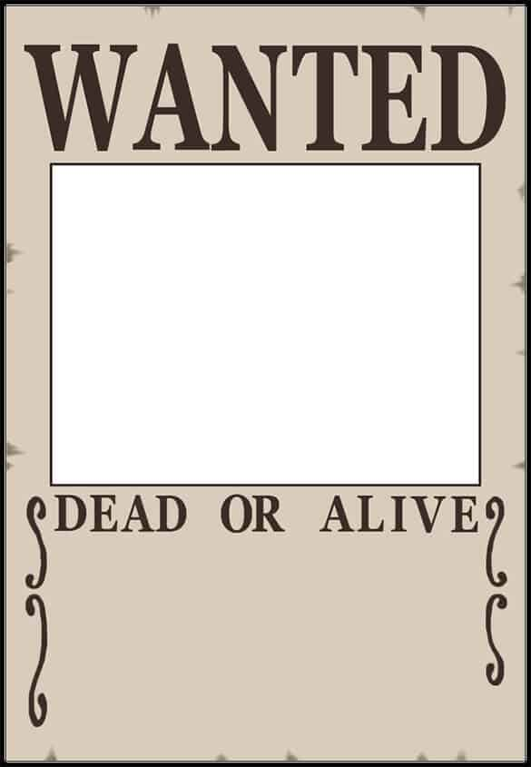 Gutsy image in free printable wanted poster