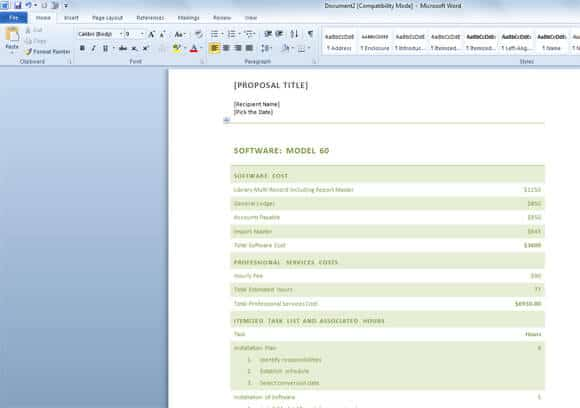 19 sample free word proposal templates formats in word excel pdf