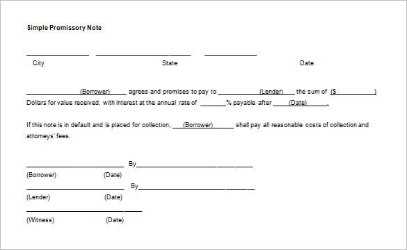 12+  Promissory Note Templates - Samples