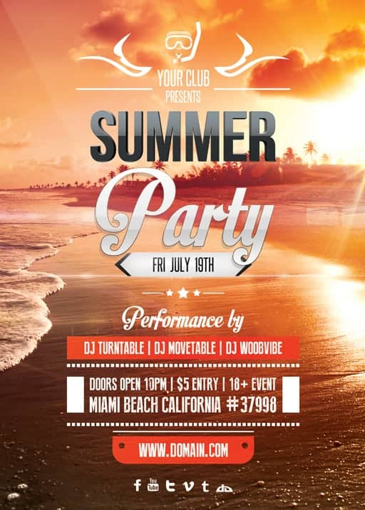 free sample event flyer templates designs word