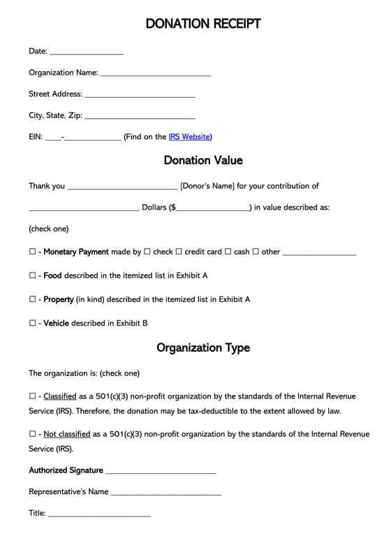 Moreover, you can only issue a donation receipt under the name of the individual who made the donation. Free 501 C 3 Donation Receipt Templates Word Pdf