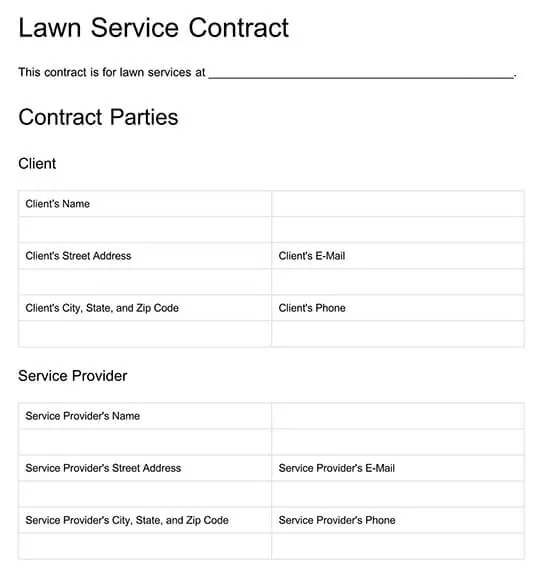 If you wish to move forward after reviewing the proposal, simply indicate your approval signing the final page. Free Lawn Care Contract Templates Examples Word Pdf