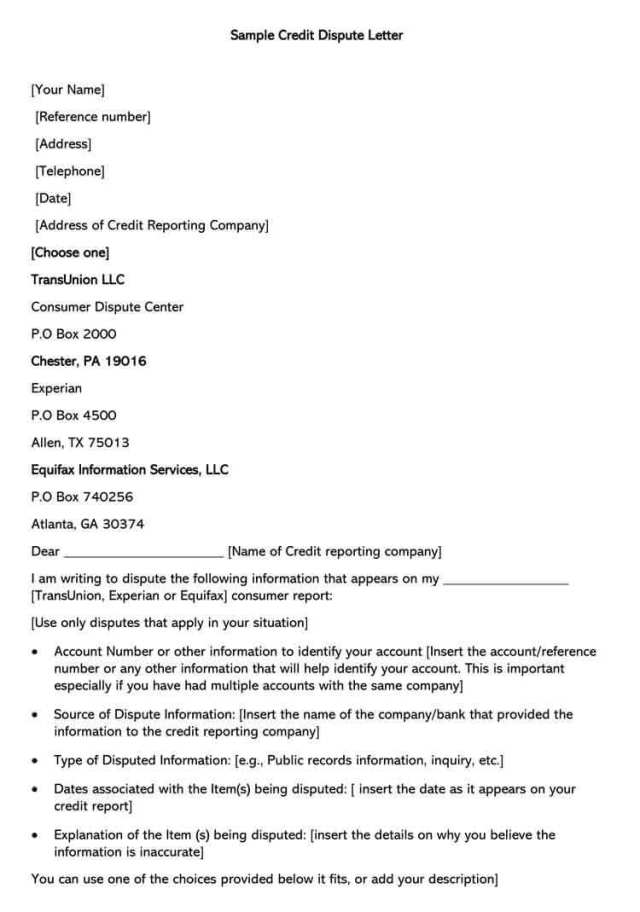 Credit Report Dispute Letter: A Guide (Free Template)