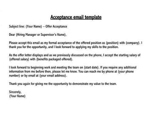 Business letters have you just found the perfect. Thank You Letter In Response To A Job Offer 10 Sample Letters