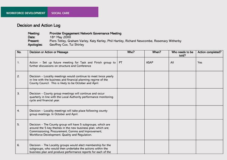 meeting register template