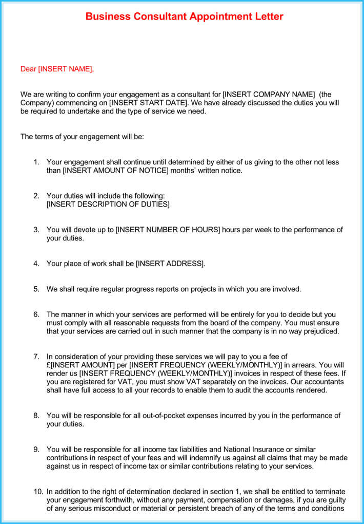 Business Appointment Letter 9 Sample Letters And Writing