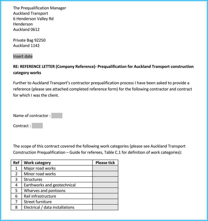 business reference letter sample free