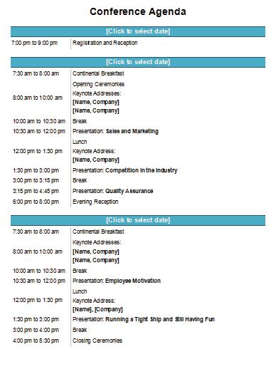 Agenda Template Keep Your Meeting Organized