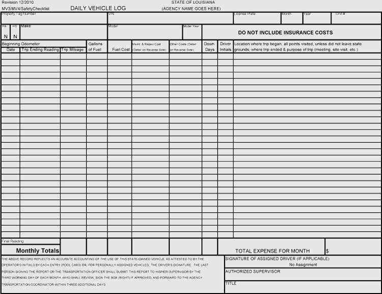vehicle maintenance log pdf