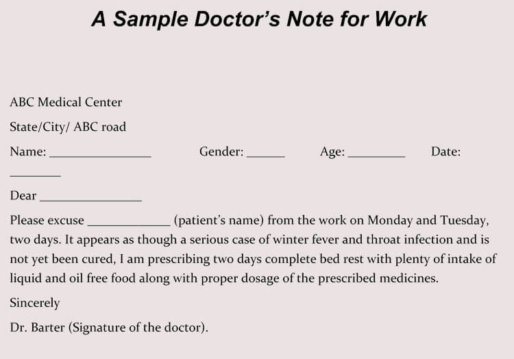 write fake doctors note