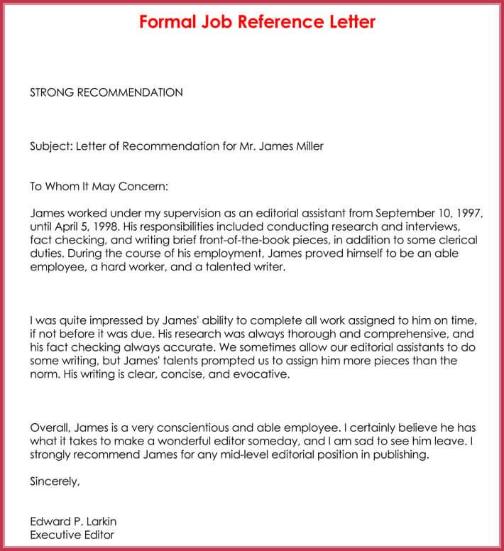format formal business letter