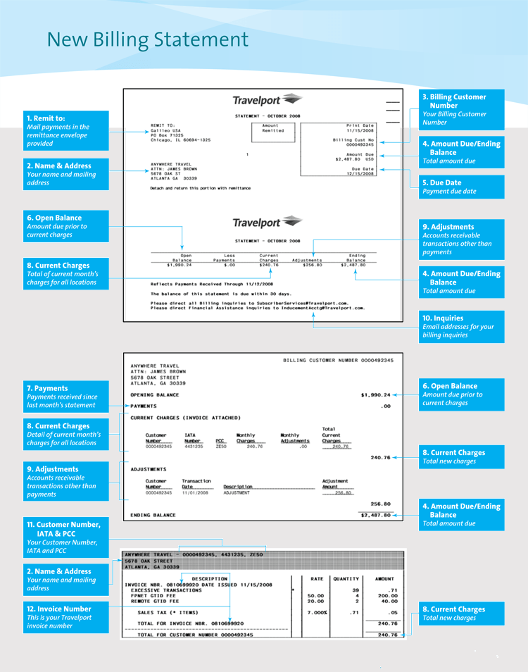 templates for billing statements
