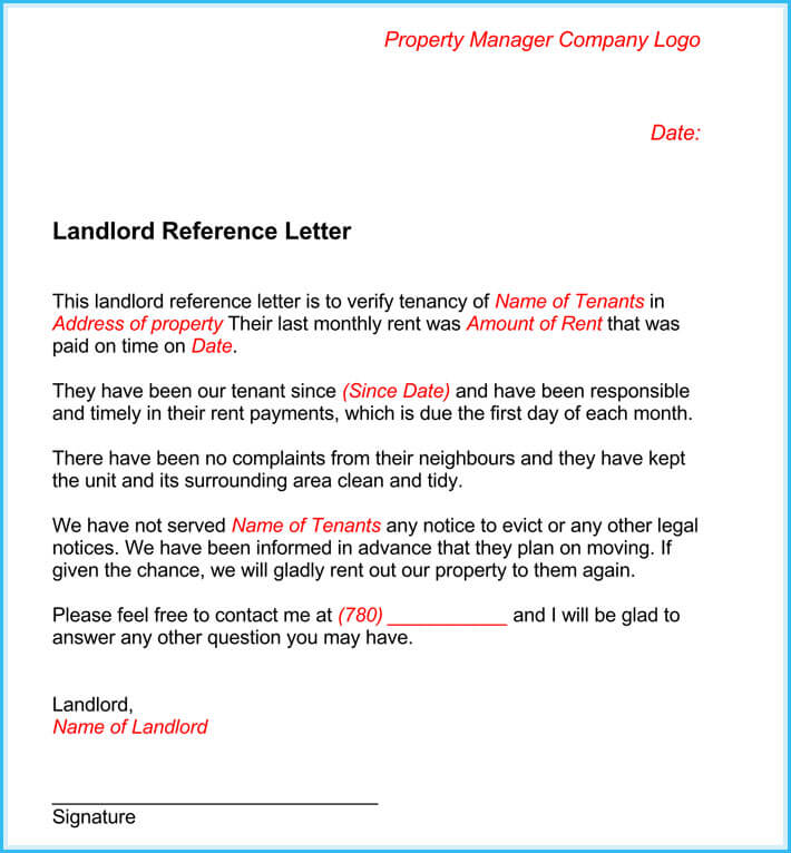 refernce letter templates